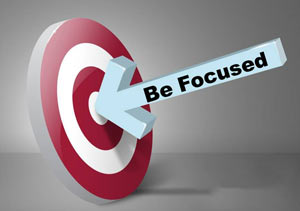 be focused on your blog