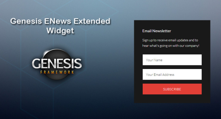 How to Customize Genesis ENews Extended Widget