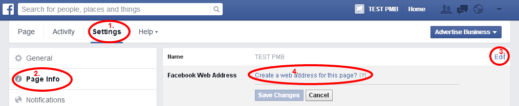 custom username facebook